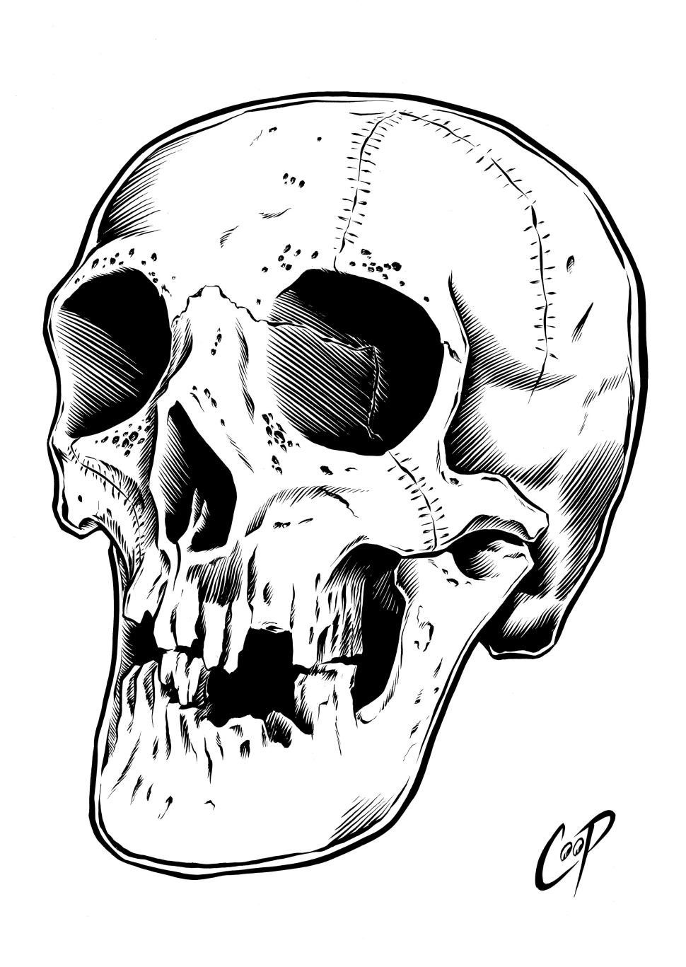 Coop s tribute to Randotti Skulls, from the golden age of Haunted Mansion merchandise