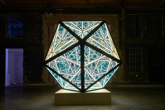 Portal Icosahedron sculpture like looking into another universe
