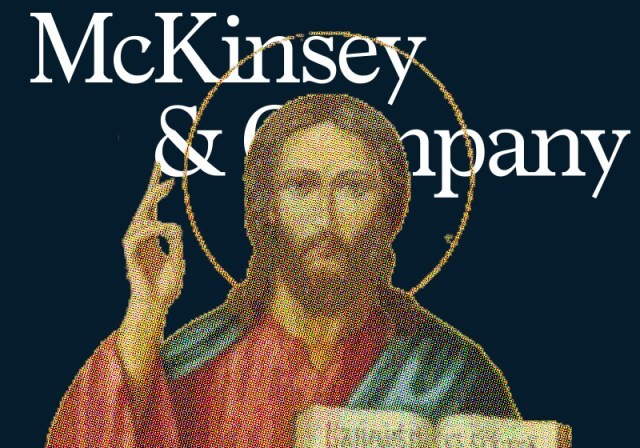 """McKinsey's internal mythology compares management consultants to """"the Marine Corps, the Roman Catholic Church, and the Jesuits"""""""