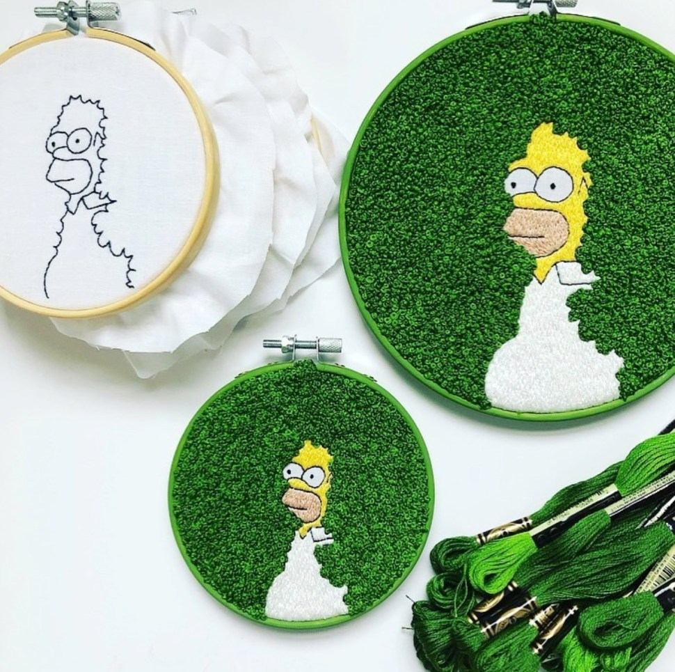 Fantastic Homer Simpson embroidery | Boing Boing