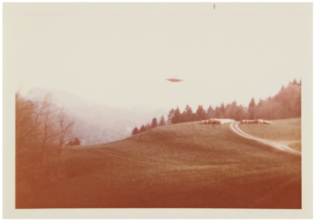 "Vintage UFO photos sold at auction, including the one from The X-Files ""I Want To Believe"" poster"