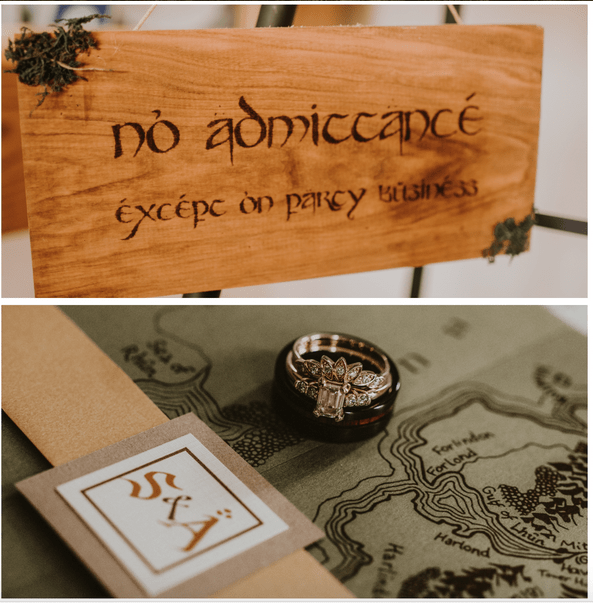 'Lord of the Rings'-themed wedding looks like a lot of fun