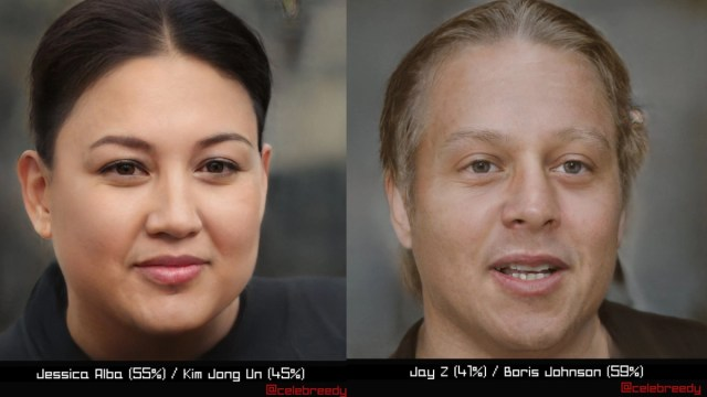 Celebreedy uses AI to combine faces of stars