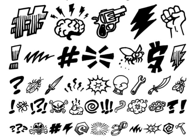 Tools to replace swear words with grawlixes: symbols suggesting anger and obscenity