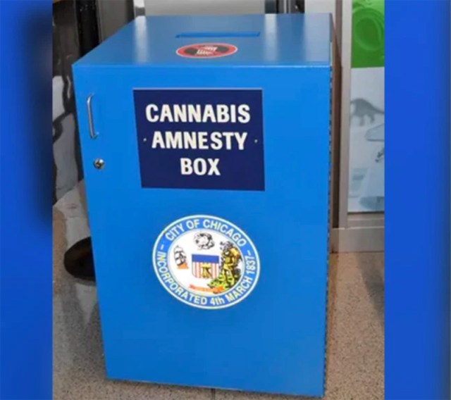 """Somebody swiped weed from Chicago airport's """"Cannabis Amnesty Box"""""""