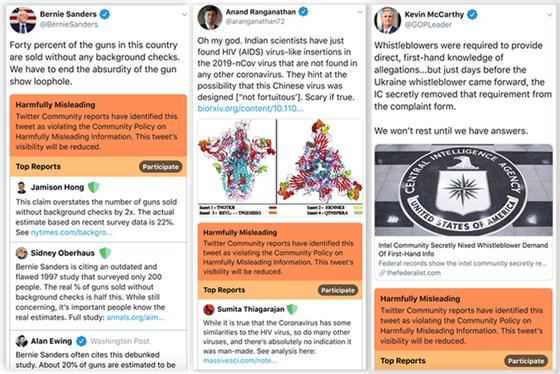 Leaked Twitter demo shows red banners to indicate lies and disinformation under tweets