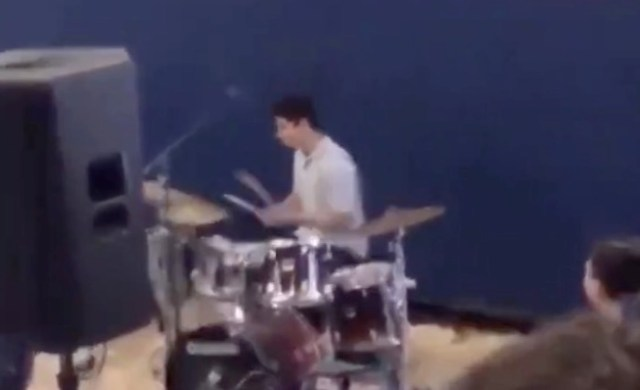 High school drummer plays Pornhub intro music at school rally, and was allegedly suspended