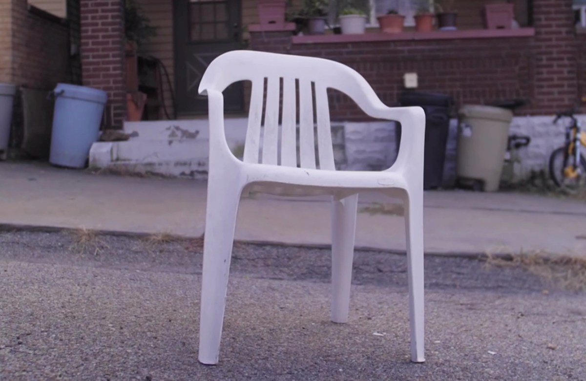 Pittsburgh's tradition of claiming a public parking space by putting a chair in it