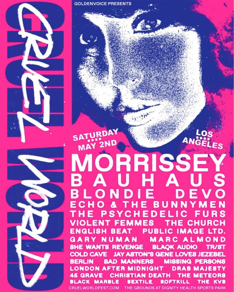 Stellar lineup for 1980s music festival: Bauhaus, Blondie, Devo, Echo & The Bunnymen...