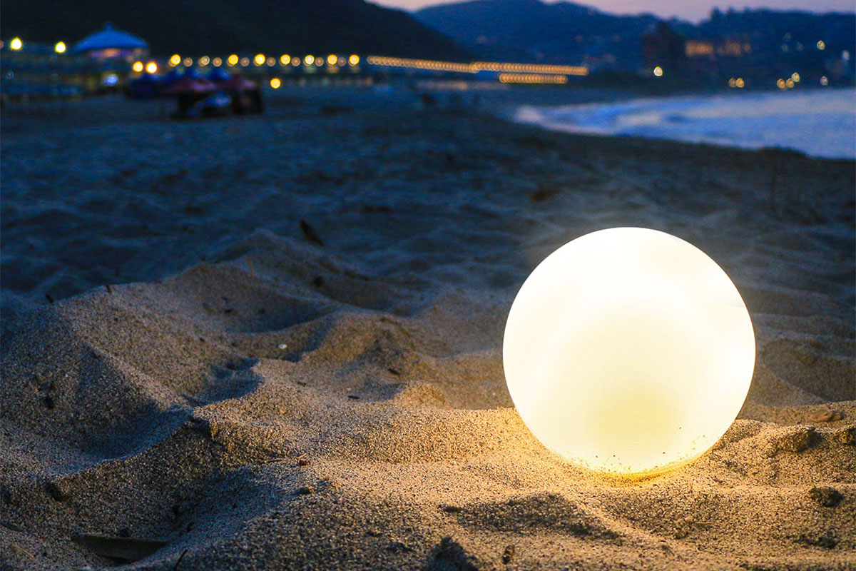 The Coconut Light goes anywhere, fits anywhere, and it's hypnotically cool