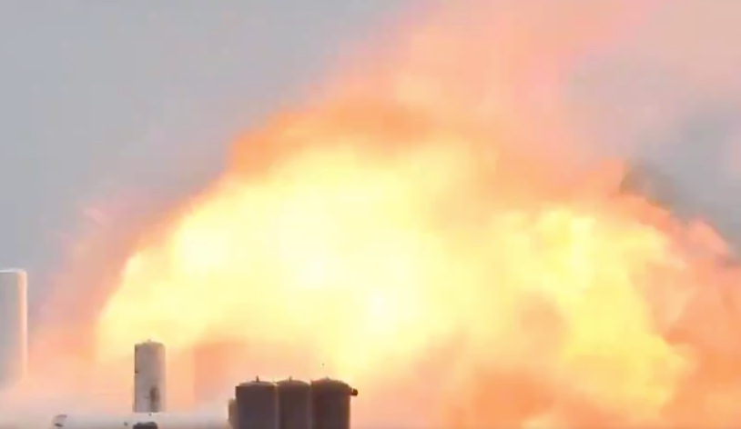 Watch: SpaceX prototype Starship rocket just exploded in a big fireball