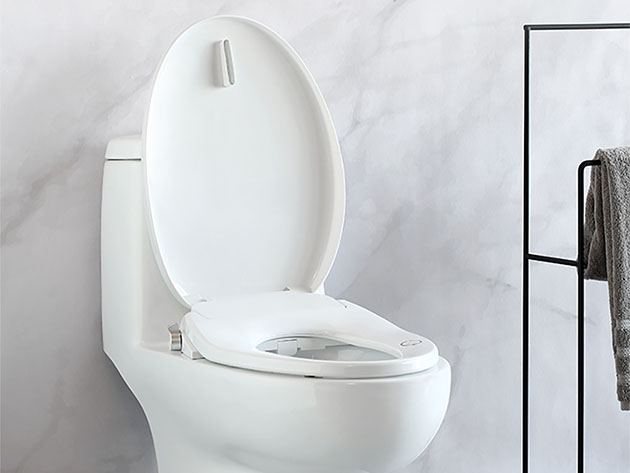 The Aim to Wash Smart Toilet Seat flushes your need for toilet paper forever