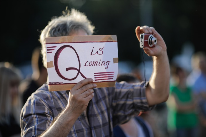 Here's a catch-up article on the rise of the QAnon far-right conspiracy theory