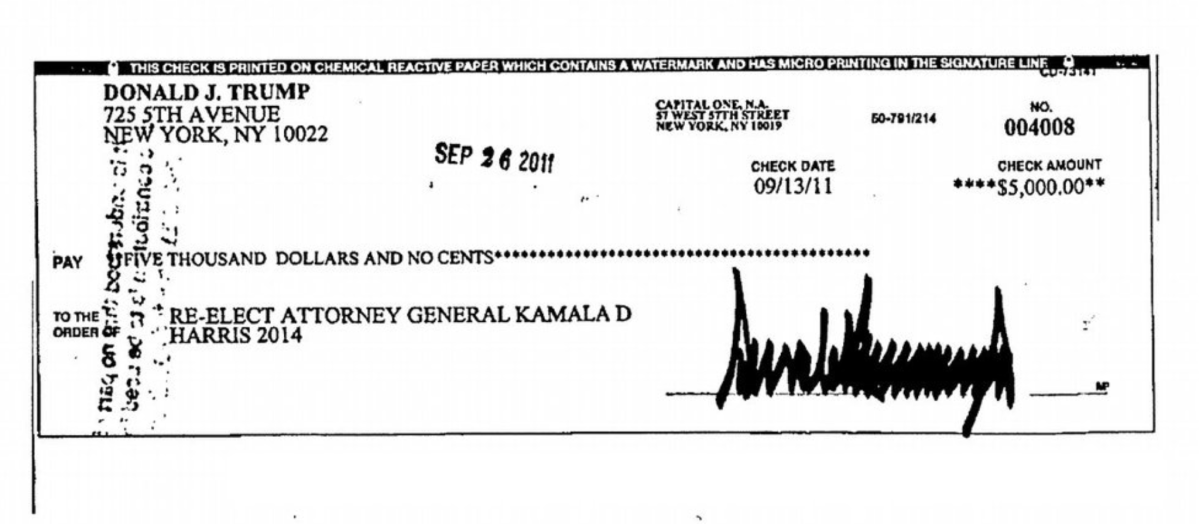 Donald Trump donated twice to Kamala Harris campaign, so did Ivanka