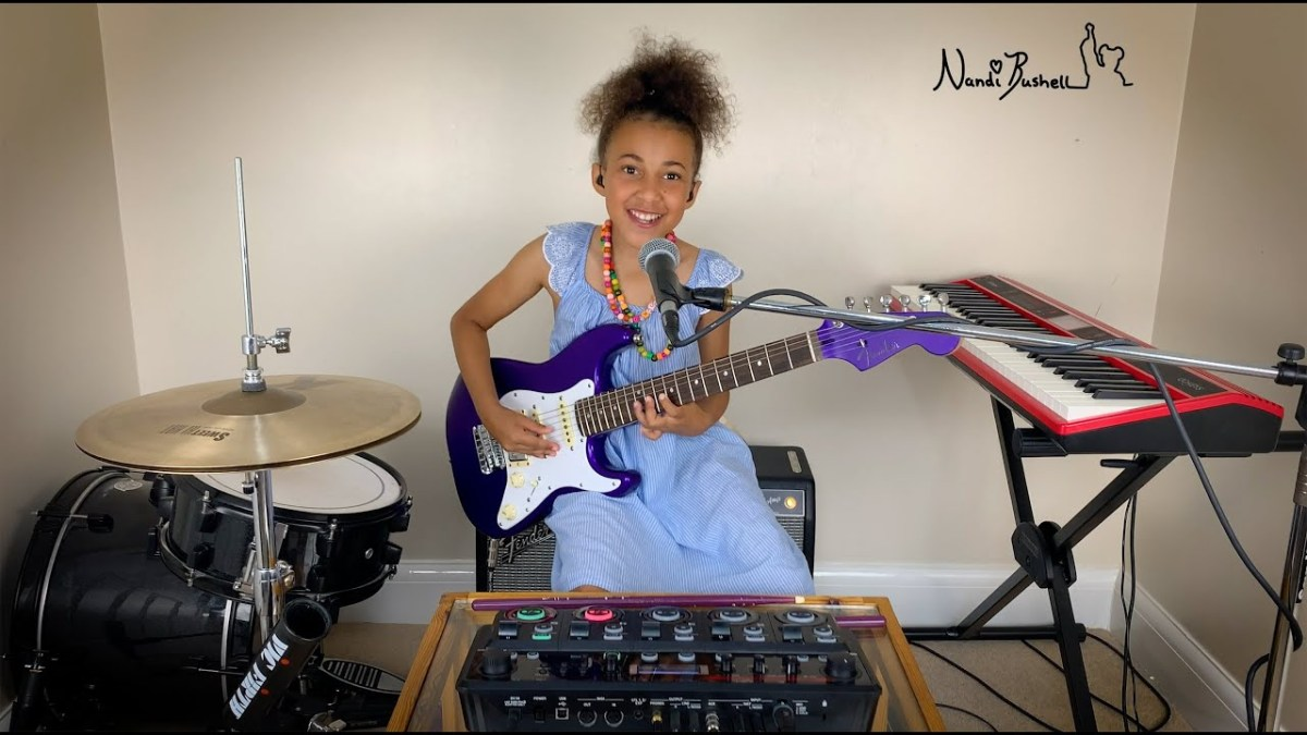 10-year-old girl performs every instrument on this looping Joy Division cover