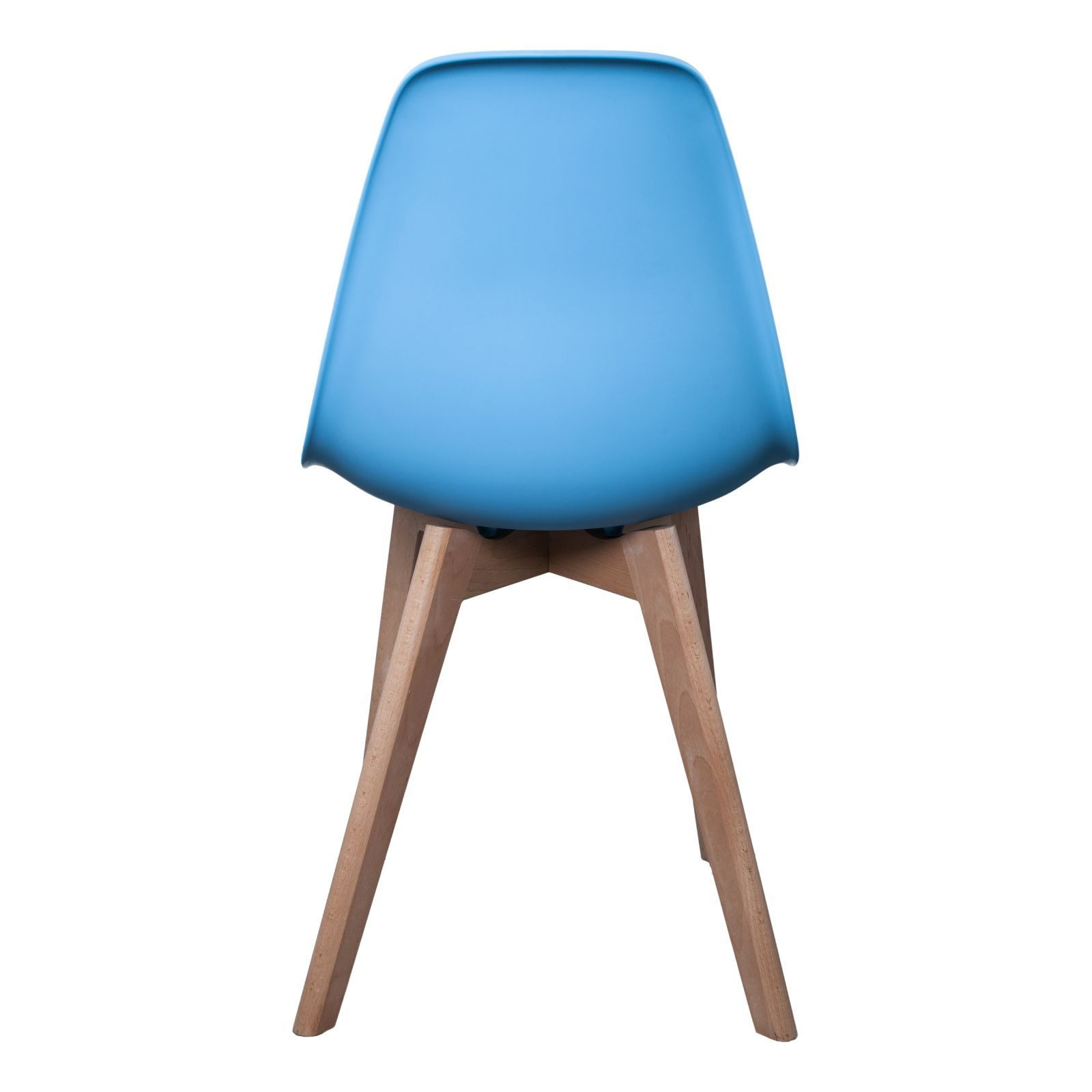 The Home Deco Factory Lot De 2 Chaises Scandinave Bleu