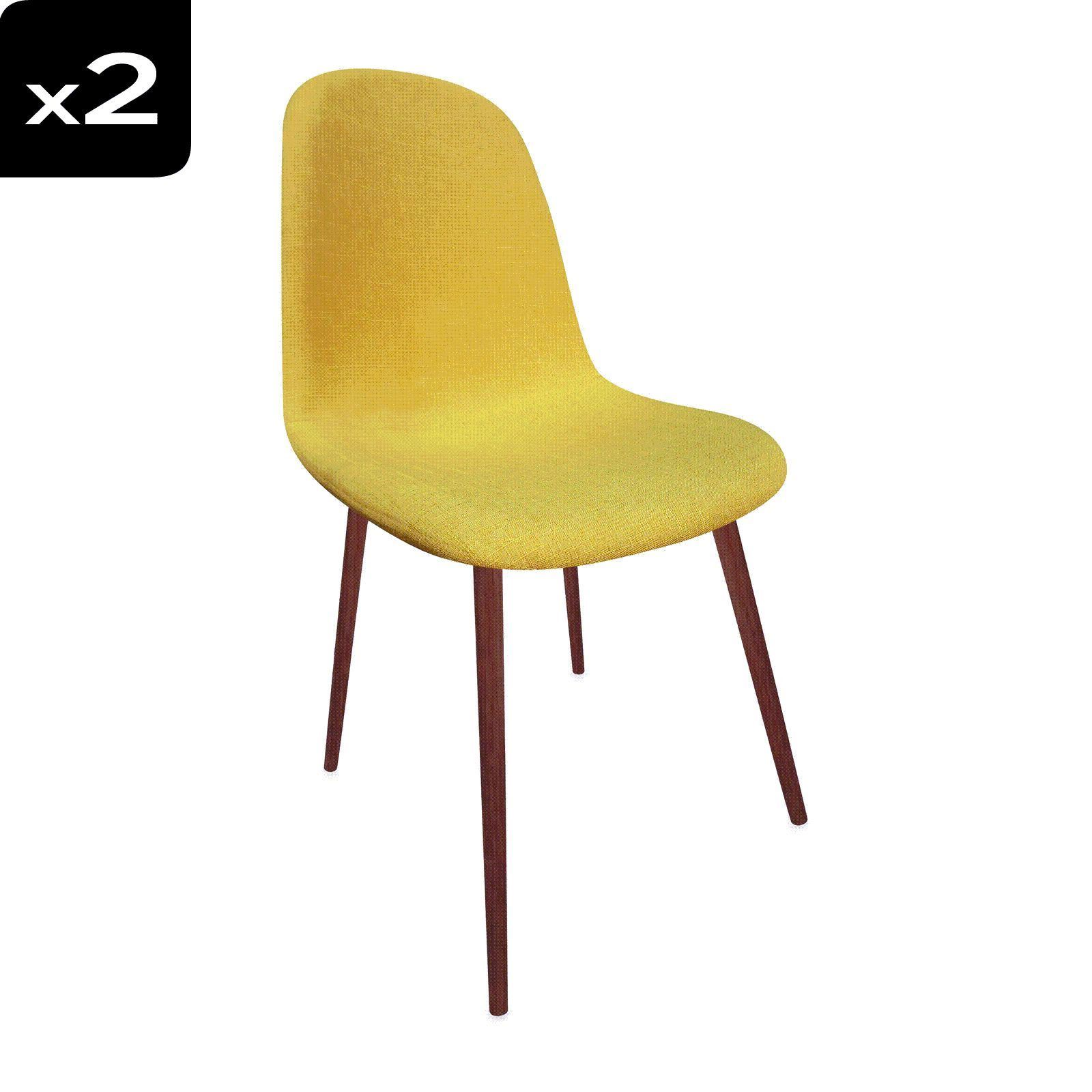 Potiron Lot De 2 Chaises Sixties Vintage Jaune BrandAlley