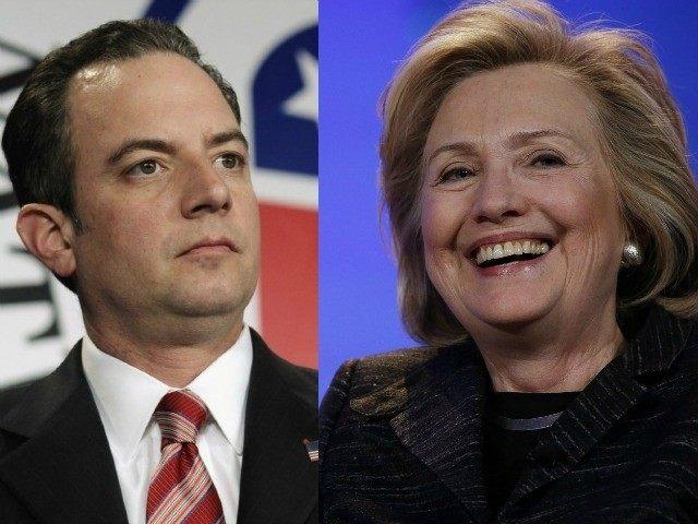 Resultado de imagen para Foto de Hillary clinton y Reince Priebus