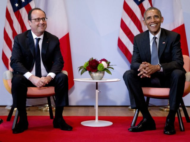 Barack Obama, Francois Hollande