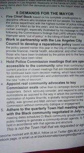 BLM LA Demands (Melina Abdullah / Facebook)