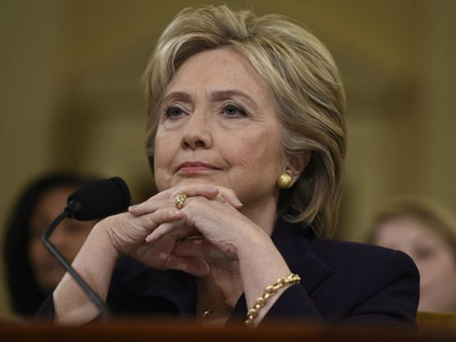 Former Secretary of State and Democratic Presidential hopeful Hillary Clinton testifies before the House Select Committee on Benghazi on Capitol Hill in Washington, DC, October 22, 2015. AFP PHOTO / SAUL LOEb