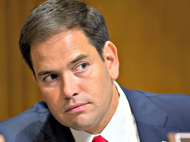 Sen. Marco Rubio, R-Fla., attends a Senate Foreign Relations Committee hearing on the nomination of Victoria Nuland to be assistant secretary of State for European and Eurasian affairs, on Capitol Hill in Washington, Thursday, July 11, 2013. (AP Photo/J. Scott Applewhite)