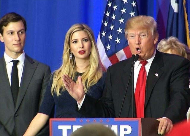 Image result for donald trump with ivanka and jared