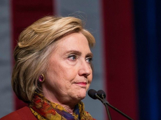 NEW YORK, NY - FEBRUARY 16: Democratic presidential candidate and former U.S. Secretary of State Hillary Clinton gives an address at the Schomburg Center for Research in Black Culture on February 16, 2016 in New York City. Clinton is hoping to win the upcoming South Carolina and Nevada primaries. (Photo by Andrew Burton/Getty Images)