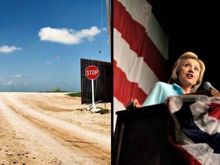 Open Southern Border, Hillary Clinton AP Photos