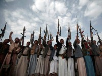 Tribesmen loyal to Houthi rebels hold their weapons during a gathering aimed at mobilizing more fighters into battlefronts in several Yemeni cities, in Sanaa, Yemen, Monday, June 20, 2016. Yemen's civil war has killed some 9,000 people since March 2015 — a third of them civilians, according to the United Nations. (AP Photo/Hani Mohammed)