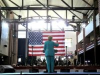 Democratic presidential nominee former Secretary of State Hillary Clinton speaks during a campaign even at Truckee Meadows Community College on August 25, 2016 in Reno, Nevada.
