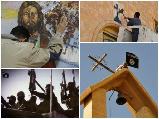 Islamic-State-ISIS-Destroying-Christian-Church-Symbols