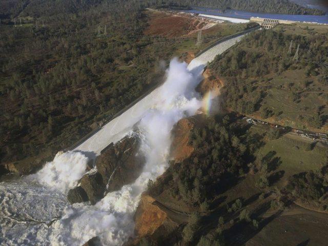 Oroville Dam Spillway, February 2017