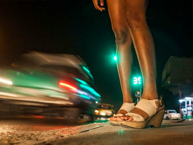 Sex worker in Havana, Cuba, on 1st January 2016. The night is still their best ally. They are seen in nightclubs, streets and other places, although they almost always end their journey in private houses where foreign tourists who arrive on the Caribbean island are staying. The jineteras, as it is usually called in Cuba to the young women who sell any type of sexual favor to the highest bidder, have not stopped exercising prostitution even in the middle of greater police and social surveillance to avoid it. (Photo by Alvaro Fuente/NurPhoto via Getty Images)