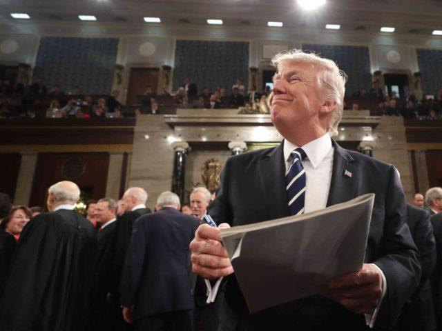 Trump speech smile (Jim Lo Scalzo / AFP / Getty)