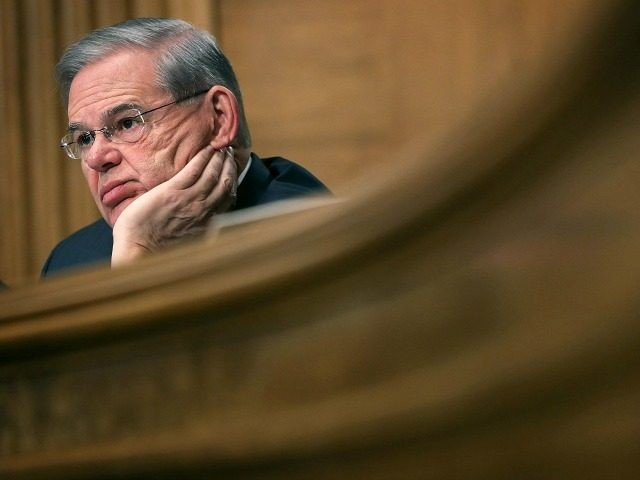 "WASHINGTON, DC - APRIL 07:  U.S. Sen. Robert Menendez (D-NJ) waits for the beginning of a hearing before the Senate Banking, Housing and Urban Affairs Committee April 7, 2016 on Capitol Hill in Washington, DC. The committee held a hearing on ""The Consumer Financial Protection Bureau's Semi-Annual Report to Congress.""  (Photo by Alex Wong/Getty Images)"