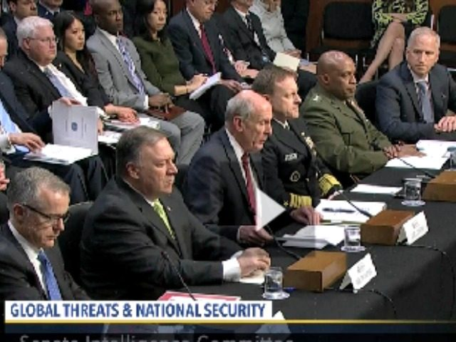 Image result for photos of trump with intelligence chiefs