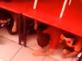 VIDEO: Kindergarten Teacher Keeps Children Calm During Cartel Firefight