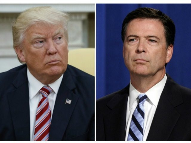 Trump and Comey collage