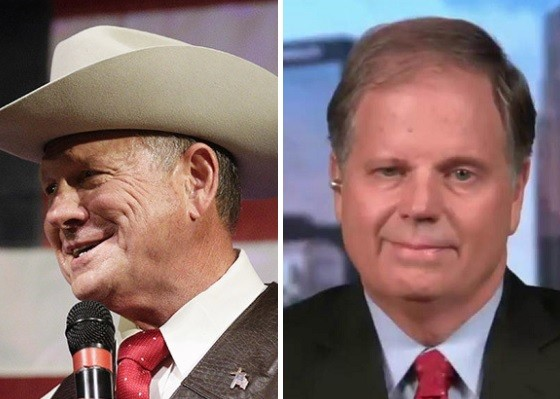 Image result for ROY MOORE AND DOUG JONES PHOTO