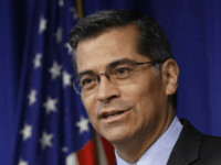 FILE - In this May 3, 2017, file photo, California Attorney General Xavier Becerra answers a question during a news conference in Sacramento, Calif. The top lawyers for 19 states will urge a federal judge Monday, Oct. 23, 2017, to force President Donald Trump's administration to pay health care subsidies he abruptly cut off earlier this month. State attorneys general, led by Becerra, argue the monthly payments are required under former President Barack Obama's health care law, and cutting them off will harm consumers. (AP Photo/Rich Pedroncelli, File)