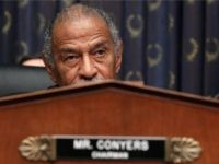 Chairman John Conyers (D-MI) listens to testimony from Attorney General Eric Holder during a House Judiciary Committee hearing on Capitol Hill May 13, 2010 in Washington, DC. Attorney General Holder told the committee that several people have been arrested after search warrants were served in the case of the bombing attempt in Times Square. (Photo by Mark Wilson/Getty Images)