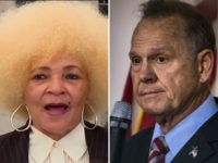 Former Alabama police officer Faye Gary and Republican Senate candidate Roy Moore.