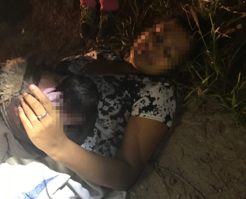 Border Patrol agents deliver baby after woman illegally crosses border.