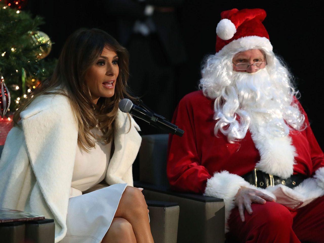 Melania Trump Santa (Mark Wilson / Getty)