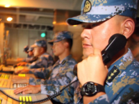 China's navy staged live-fire exercises near Shandong Province that concluded Tuesday. Photo by PLA Navy/UPI
