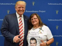 Angel Mom Agnes Gibboney with Donald Trump