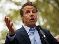 NEW YORK, NY - SEPTEMBER 18: New York Governor Andrew Cuomo speaks during a rally of hundreds of union members in support of IBEW Local 3 (International Brotherhood of Electrical Workers) at Cadman Plaza Park, September 18, 2017 in the Brooklyn borough of New York City. More than 1800 members of IBEW Local 3 are entering their sixth month of a strike in a contract dispute with Charter Communications/Spectrum. (Photo by Drew Angerer/Getty Images)
