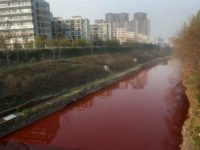 A river turning red caused panic in Lebanon's city of Zahle after photos of the mysterious dye went viral of social media.