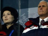 US Vice President Mike Pence (R) and North Korea's Kim Jong Un's sister Kim Yo Jong attend the opening ceremony of the Pyeongchang 2018 Winter Olympic Games on February 9, 2018